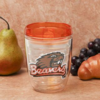 Oregon State Beavers 12oz. Travel Tumbler with Color Lid   Orange