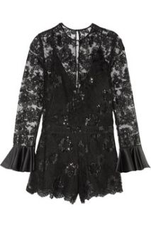 Yumi embroidered tulle playsuit  Alexis