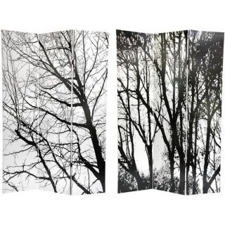 Canvas Winter Trees Double sided 6 foot Room Divider (China
