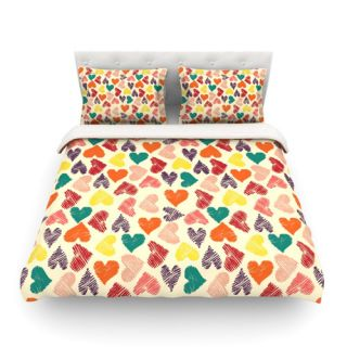 KESS InHouse Little Hearts by Louise Machado Featherweight Duvet Cover