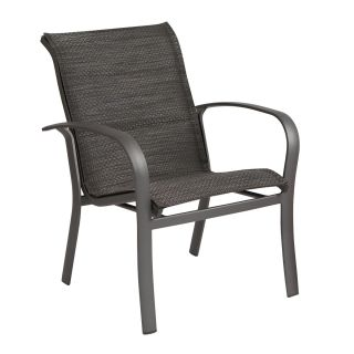 Woodard 2PH501 Fremont Padded Sling Stackable Outdoor Dining Arm Chair