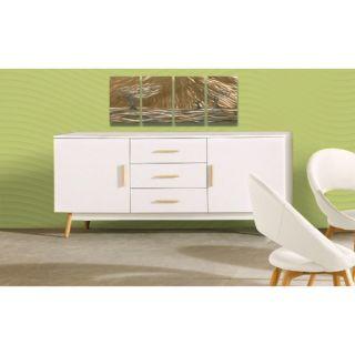 Scandinavian Lifestyle Texas 3 drawer White Finish Solid Oak Leg