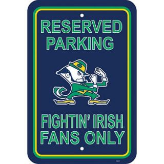 NCAA Notre Dame Fighting Irish Parking Sign