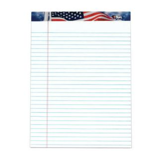American Pride US Flag Headtape Writing Tablet