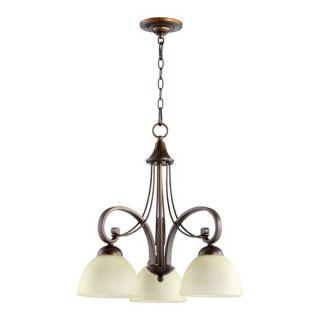 Quorum International 6331 3 86 Lariat 3 Light Chandelier in Oiled Bronze