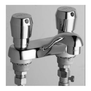 Centerset Bathroom Sink Faucet with Double Pump Handles by Chicago