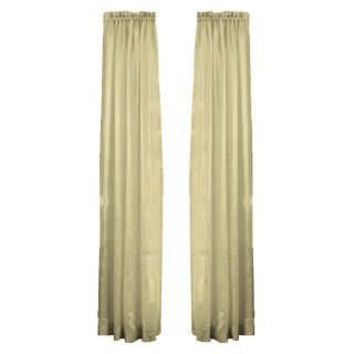 Style Selections 84 in L Taupe Crystal Sheer Curtain