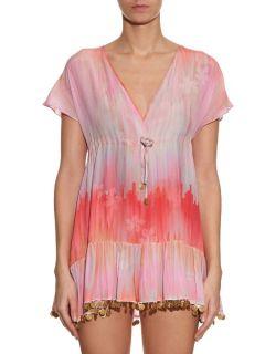 Little Wing V neck silk dress  Athena Procopiou US