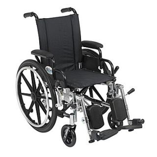 Drive Medical Viper Wheelchair with Flip Back Removable Arms, Desk Arms, Legrest, 14