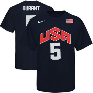 Nike Kevin Durant USA Basketball 2012 Replica Jersey T Shirt   Navy Blue