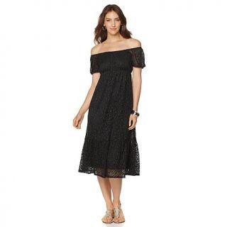Slinky® Brand Off the Shoulder Crochet Dress   8156405