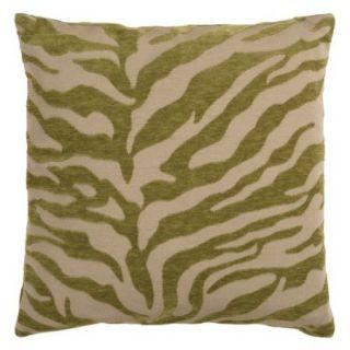 Surya Zebra Decorative Pillow   Avocado