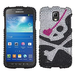 Insten Diamante Protector Case For Samsung i537 (Galaxy S4 Active), Skull