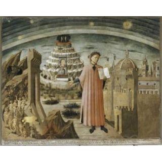 Dante and his Poem , Domenico di Michelino (1417 1491/Italian) , Santa Maria del Fiore, The Cathedral, Florence Poster Print (18 x 24)