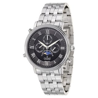 Charmex Mens White Dial Stainless Steel Water Resistant Swiss Quartz
