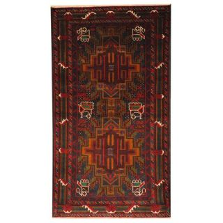 Herat Oriental Semi antique Afghan Hand knotted Tribal Balouchi Brown