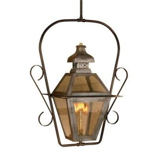 Titan Lighting Bayou 30 in. Outdoor Washed Pewter Gas Ceiling Lantern TN 7917