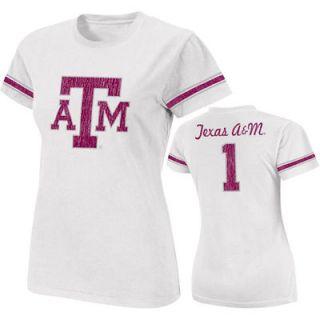 Texas A&M Aggies Womens White Galaxy #1 Jersey T Shirt