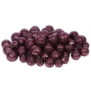"""60ct Dark Mauve Sequin and Glitter Christmas Ball Decorations 0.8""""   1.25"""""""