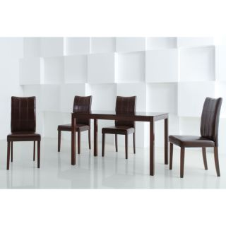 Eveleen Brown 5 piece Dining Table and Chair Set   11585188