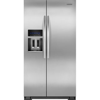 KitchenAid 26.4 Cu. Ft. Side by Side Refrigerator with Thru the Door Ice and Water Silver KSF26C6XYY