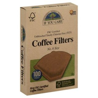 If You Care Coffee Filters   Brown   Cone   Number 6   100 Count