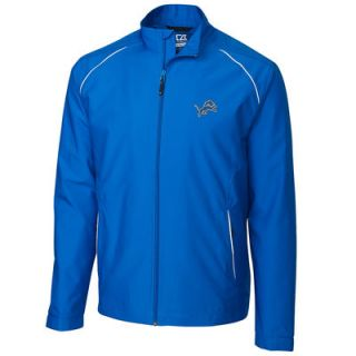 Detroit Lions Cutter & Buck WeatherTec Beacon Full Zip Jacket   Blue