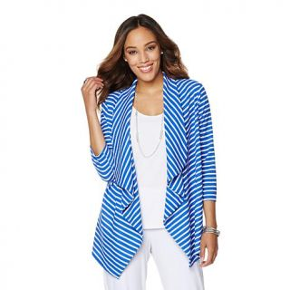 Slinky® Brand Crepe Shawl Collar Jacket   8088823