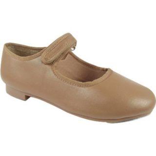 Dance Class by Trimfoot Girl's Caramel Velcro Mary Jane Tap Shoe