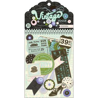 Vintage Vogue Ephemera Cardstock Die Cuts  ™ Shopping