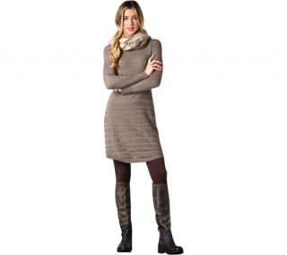 Womens Toad&Co Shadowstripe Sweater Dress   Falcon Brown