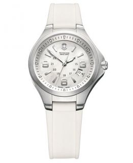 Victorinox Swiss Army Watch, Womens Base Camp White Rubber Strap