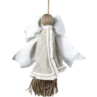 French Market Linen Angel Ornament by Sage & Co.