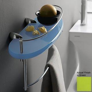 Nameeks Kor Chrome/Green Plastic Bathroom Shelf