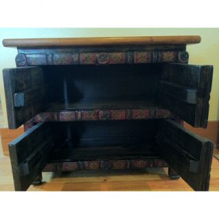 Antique Revival Ornate Tibetan Decorative Cabinet