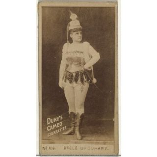 Card Number 108 Belle Urquhart from the Actors and Actresses series (N145 4) issued by Duke Sons & Co. to promote Cameo Cigarettes Poster Print (18 x 24)