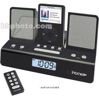 iHome iH26B Travel Alarm Clock for iPod & iPod Shuffle IH26B