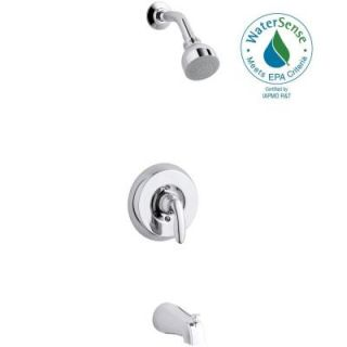 KOHLER Coralais 1 Handle Wall Mount Bath/Shower Trim Kit in Polished Chrome (Valve Not Included) K T15601 4SG CP