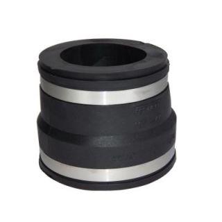 4 in. x 3 in. PVC A.C., Fibre or D.I. to C.I. or Plastic Flexible Coupling 1051 43