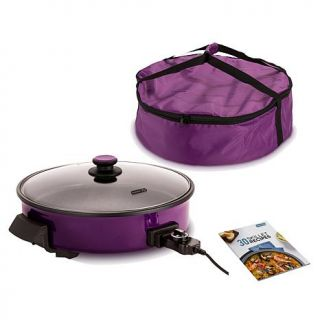 """DASH 14"""" Extra Large TruGlide Nonstick Rapid Skillet with Skillet Bag and Recip   7929416"""