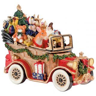 Fitz and Floyd Santas Classic Car Holiday Musical Figurine