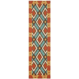 Safavieh Four Seasons Indoor/ Outdoor Hand hooked Light Blue Rug (2 x