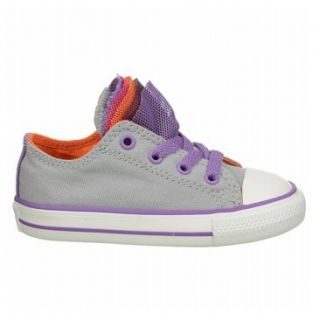 Converse Chuck Taylor Party Low Top Sneaker Toddler  Girls'   Grey/Purple