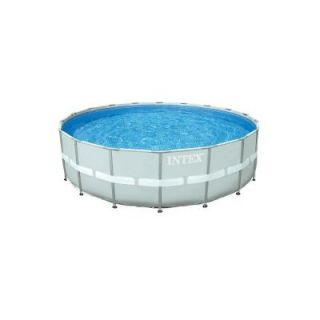 Intex 18 ft. Round x 52 in. Deep Ultra Frame Pool Set 28331EH