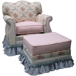 Blossoms and Bows Adult Empire Glider Rocker and Ottoman by Angel Song
