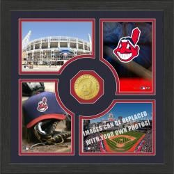 Highland Mint Cleveland Indians Fan Memories Minted Coin Photo Frame