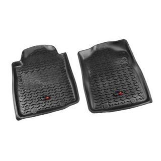 Rugged Ridge Floor Liner Front Pair Black 2012 2013 Toyota Tacoma Automatic 82904.15
