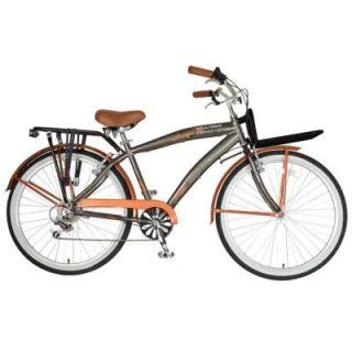 Hollandia M1 Land Cruiser Bicycle, 26 in. Wheels, 18 in. Frame, Men's Bike in Orange/Grey HOLL 3