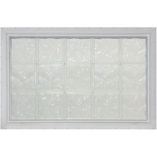 Pittsburgh Corning LightWise Decora White Vinyl New Construction Glass Block Window (Rough Opening: 56.5625 in x 40.9375 in; Actual: 55.5625 in x 39.9375 in)