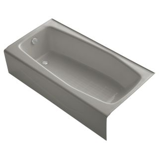 KOHLER Villager Cashmere Cast Iron Rectangular Skirted Bathtub with Left Hand Drain (Common: 31 in x 60 in; Actual: 14 in x 30.25 in x 60 in)